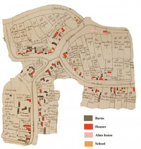 1731 village houses in red
