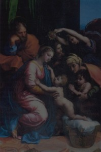 painting of holy family