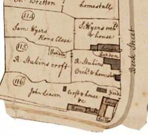 Stubbins 1731 map