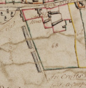 1799 map with detail of manor house