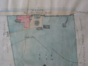 1848 plan - the house is unchanged from 1845