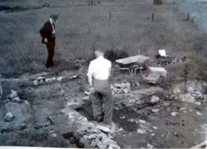 Excavations in 1956 Woodmeadow Villa