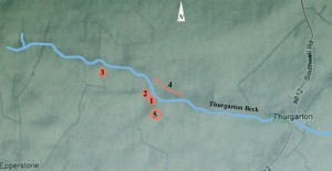 Map 2Five sites in the north of thurgarton parish