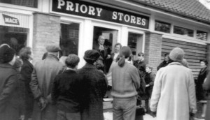 Opening of Priory Stores prop Mrs Dulcie North