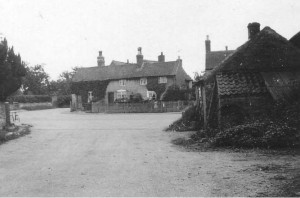 Smithy and Cottages at Thurgarton cross roads