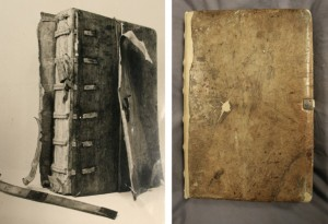 Thurgarton Cartulary before and after restoration